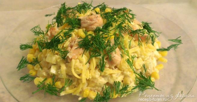 салат из консервированной форели
